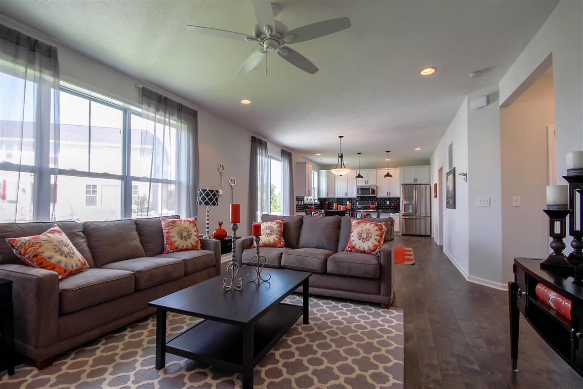 The Newton by Mayberry Homes:Welcome to the Newton. This home has a little bit of everything - from the first floor flex room (which can be a den or a bedroom) to the spacious Great Room, to the oversized dining area and well appointed kitchen, you will find it offers just what you n