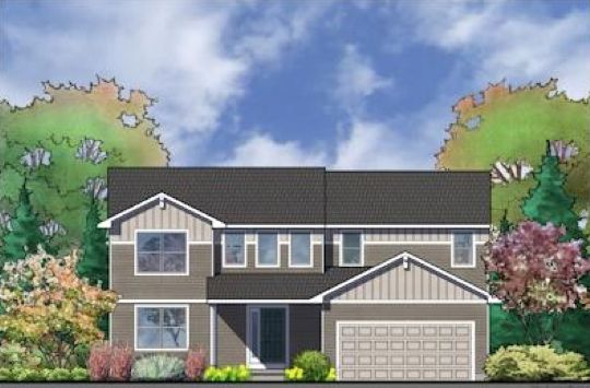 The Holiday by Mayberry Homes:Front Elevation
