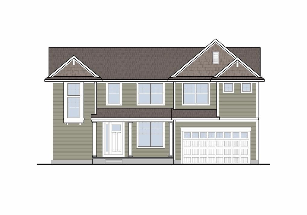 The Manchester by Mayberry Homes:Front Elevation