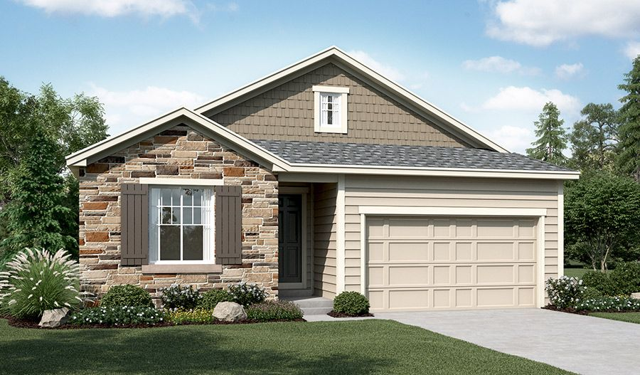 Alcott-D193-BrightonCrossing Elevation A:The Alcott - Elevation A
