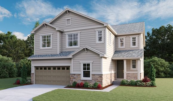 Yorktown-D725-SorrelRanch Elevation  A:The Yorktown - Elevation A