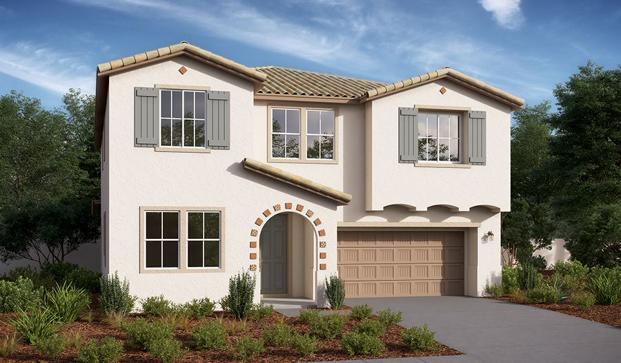 Sage-S658-PalmettoAtSpencersCrossing Elevation A:The Sage - Elevation A