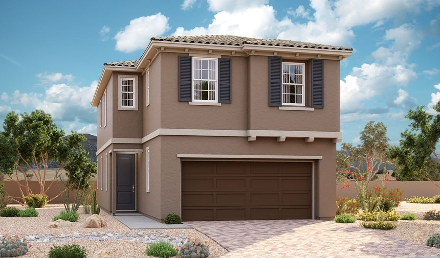 Boxwood-L17E-AmberockAtLakeLasVegas Elevation A:The Boxwood - Elevation A