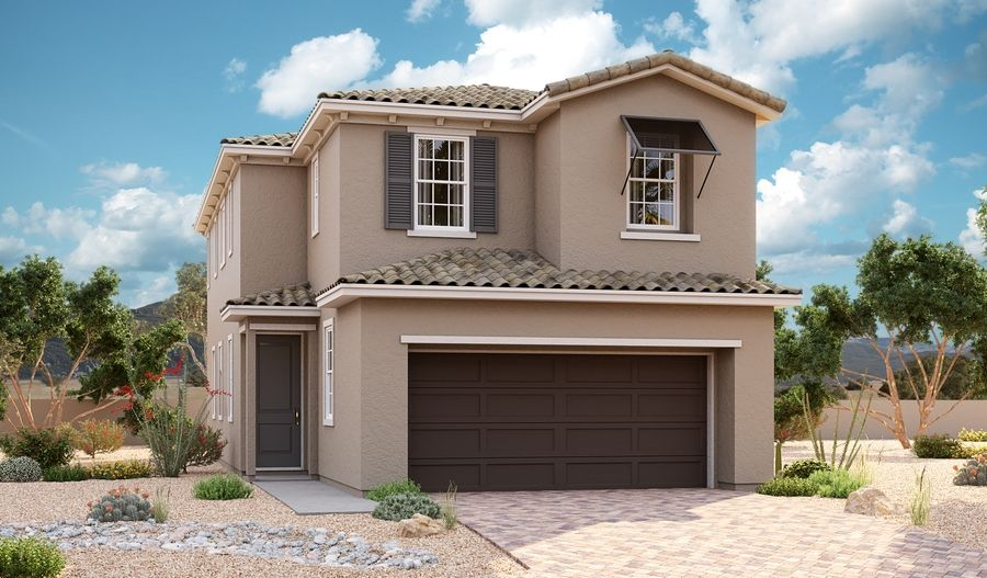 Oleander-L180-AmberockAtLakeLasVegas Elevation A:The Oleander - Elevation A