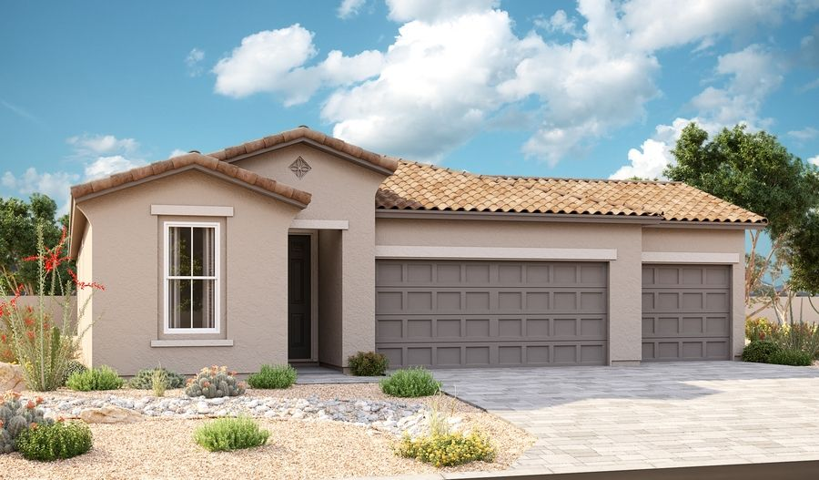 Sapphire-P920-SeasonsAtCottonwoodRanch Elevation A 3-Car:The Sapphire Elevation A