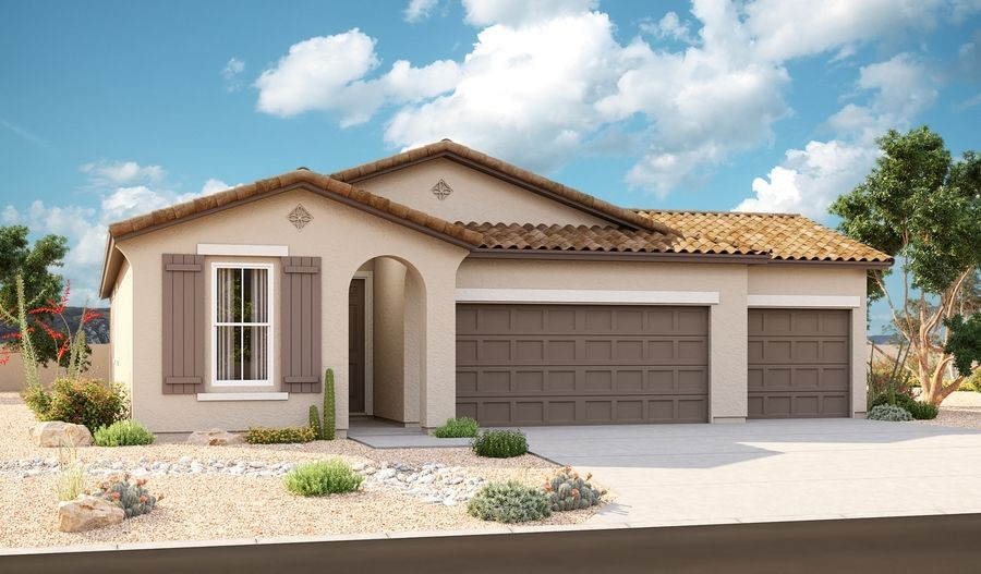 Larimar-P917-SeasonsAtMcCartneyCenter Elevation A (3-Car):The Larimar Elevation A