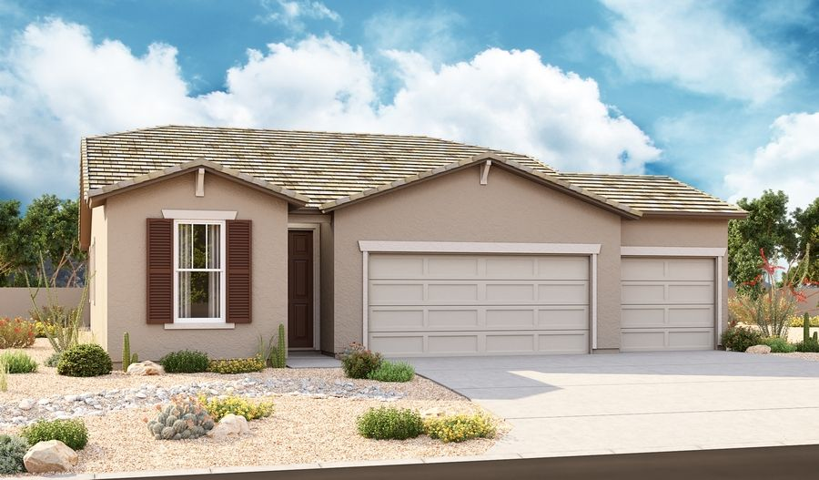 Sunstone-P919-SeasonsAtMcCartneyCenter Elevation B (3-Car):The Sapphire Elevation B