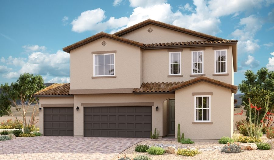 Moonstone-P914-SeasonsAtPradera Elevation A (3-car):The Moonstone Elevation A