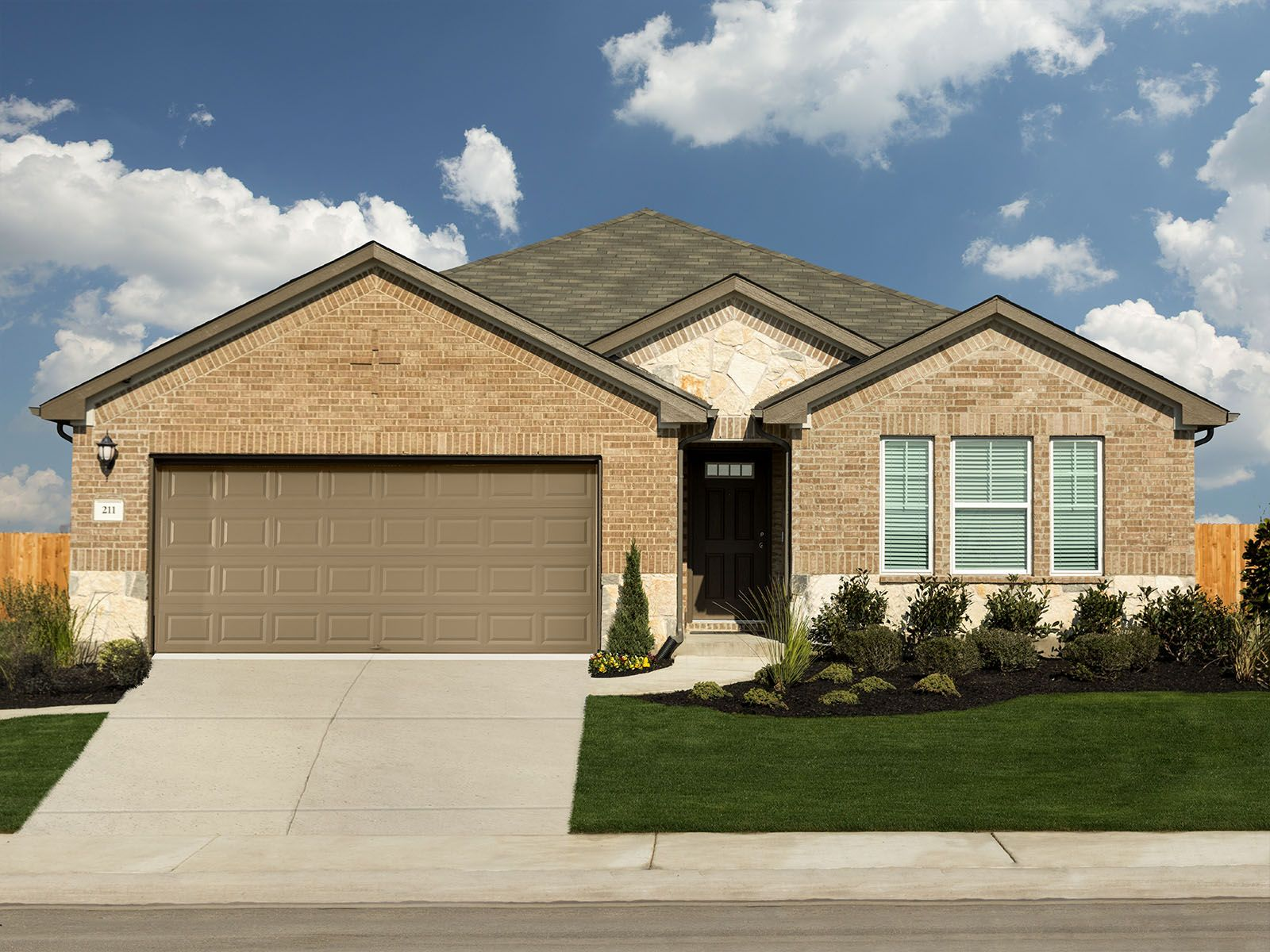 The gorgeous Henderson plan is a spacious and functional single-story home.