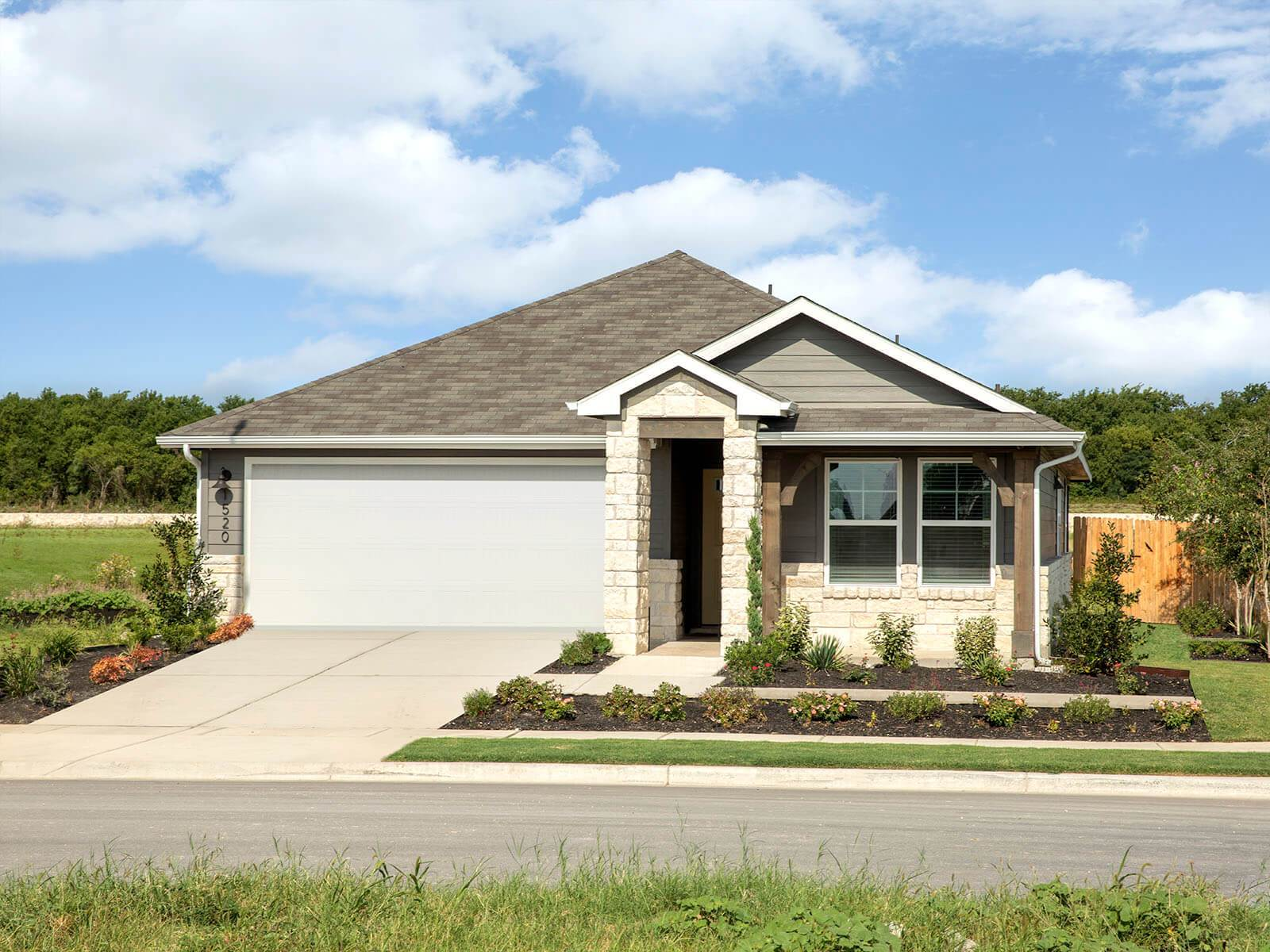 Homestead at Old Settlers Park offers functional floorplans with gorgeous exteriors.