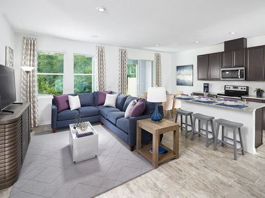 Don't miss a conversation with this home's open floorplan.
