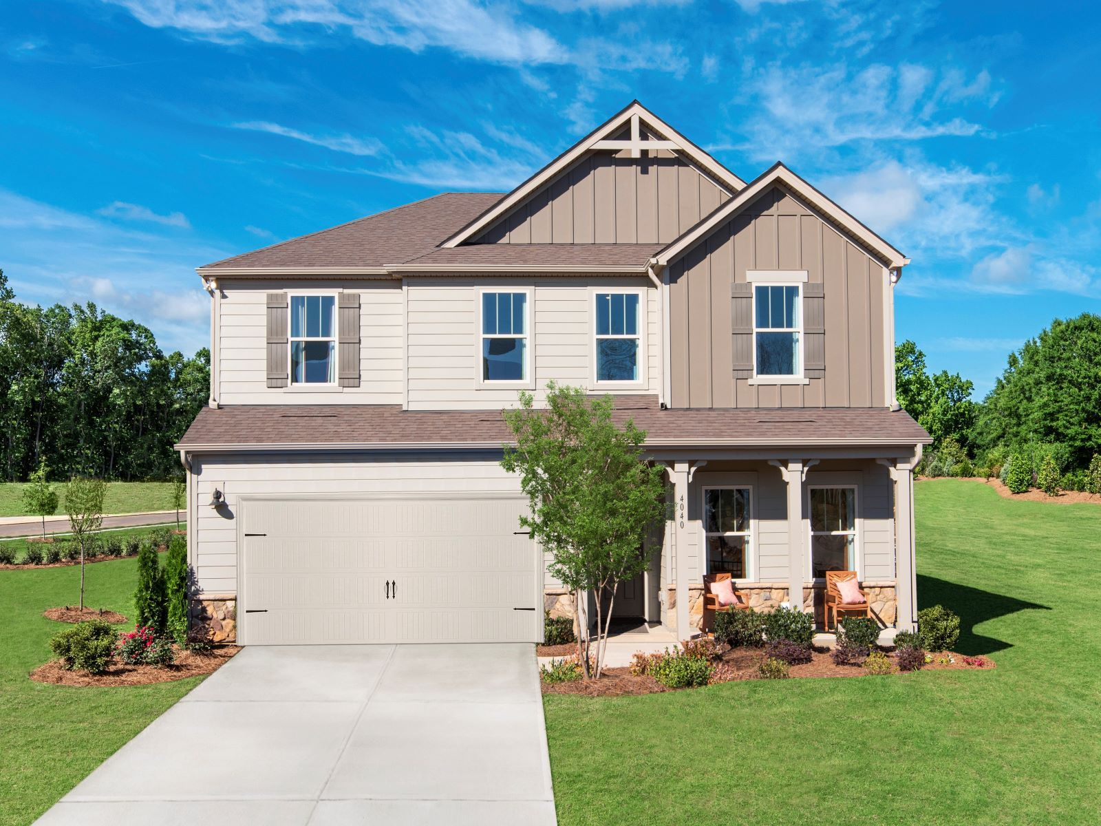 Chastain model home exterior