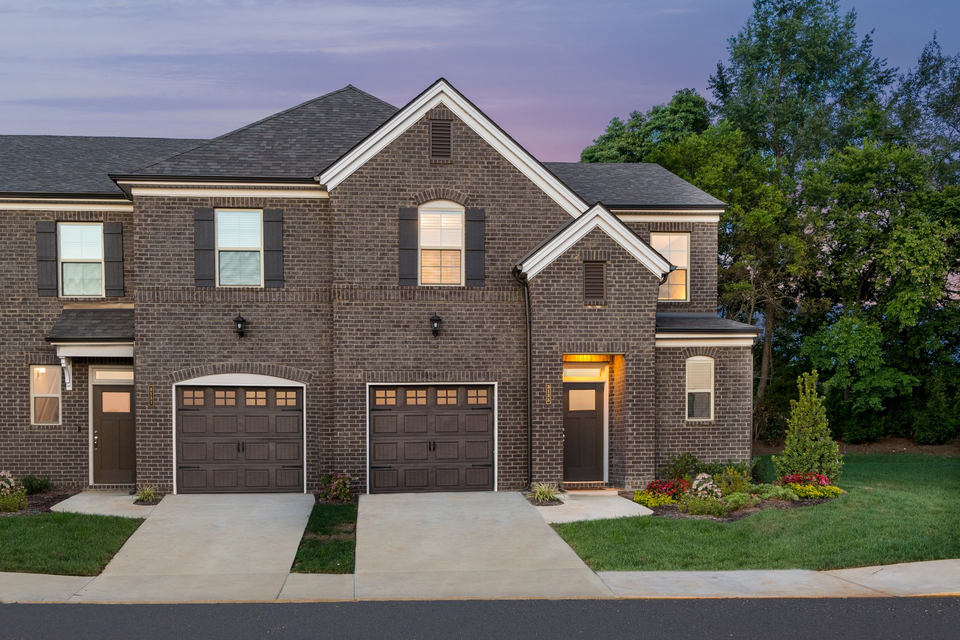 Brantley and Beckett townhomes exteriors