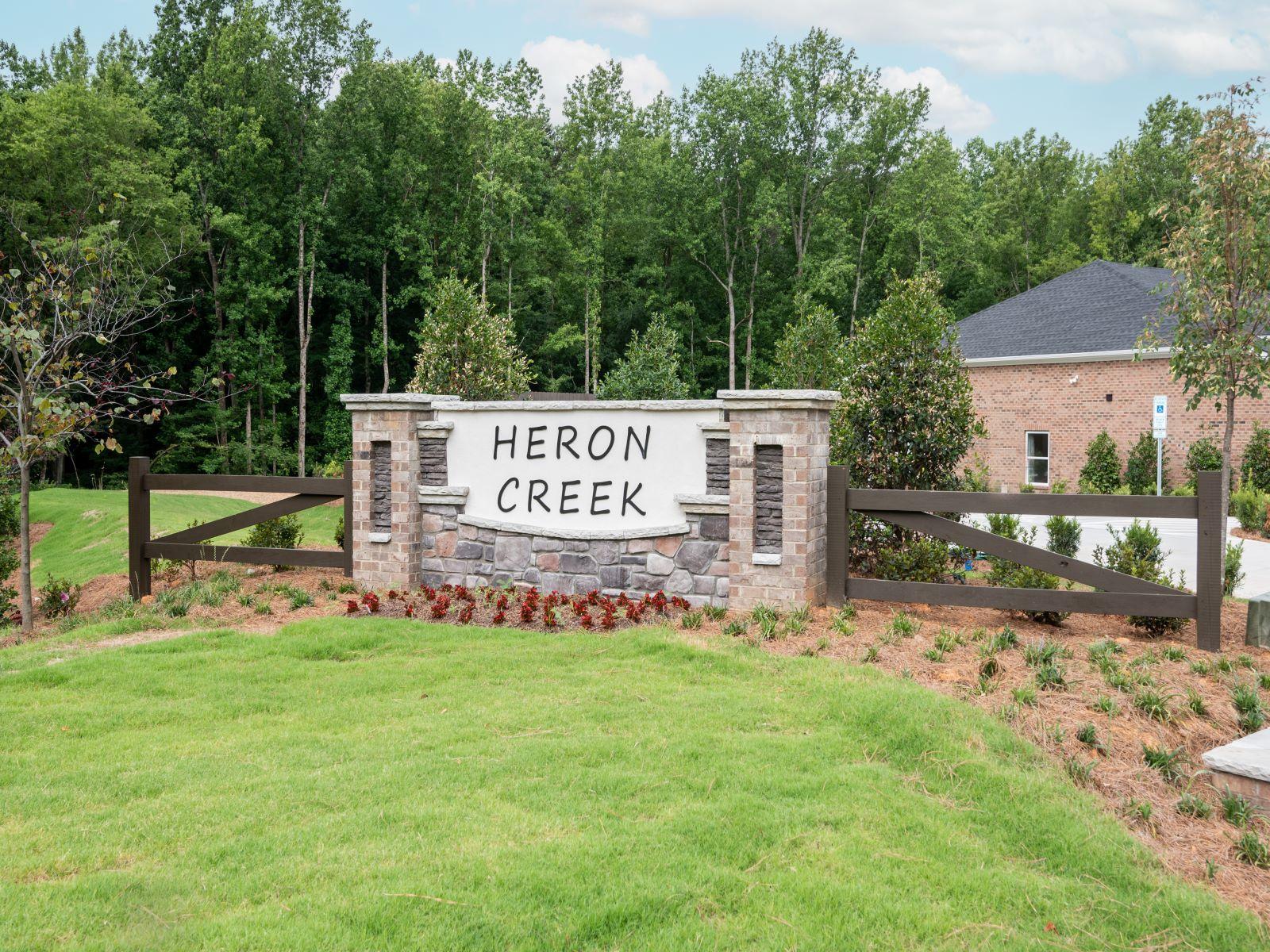 Heron Creek Monument Entrance Sign