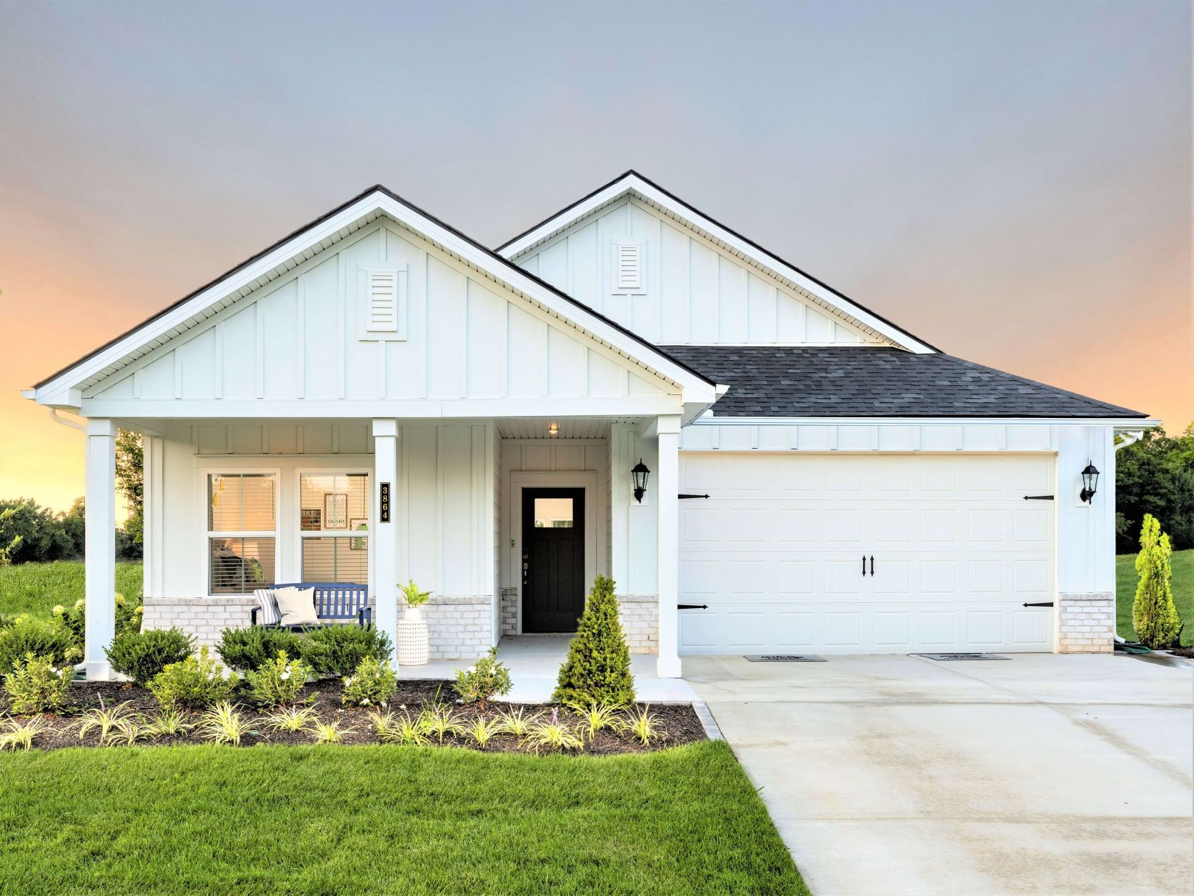 The Newport is a stunning single story home featuring four bedrooms.