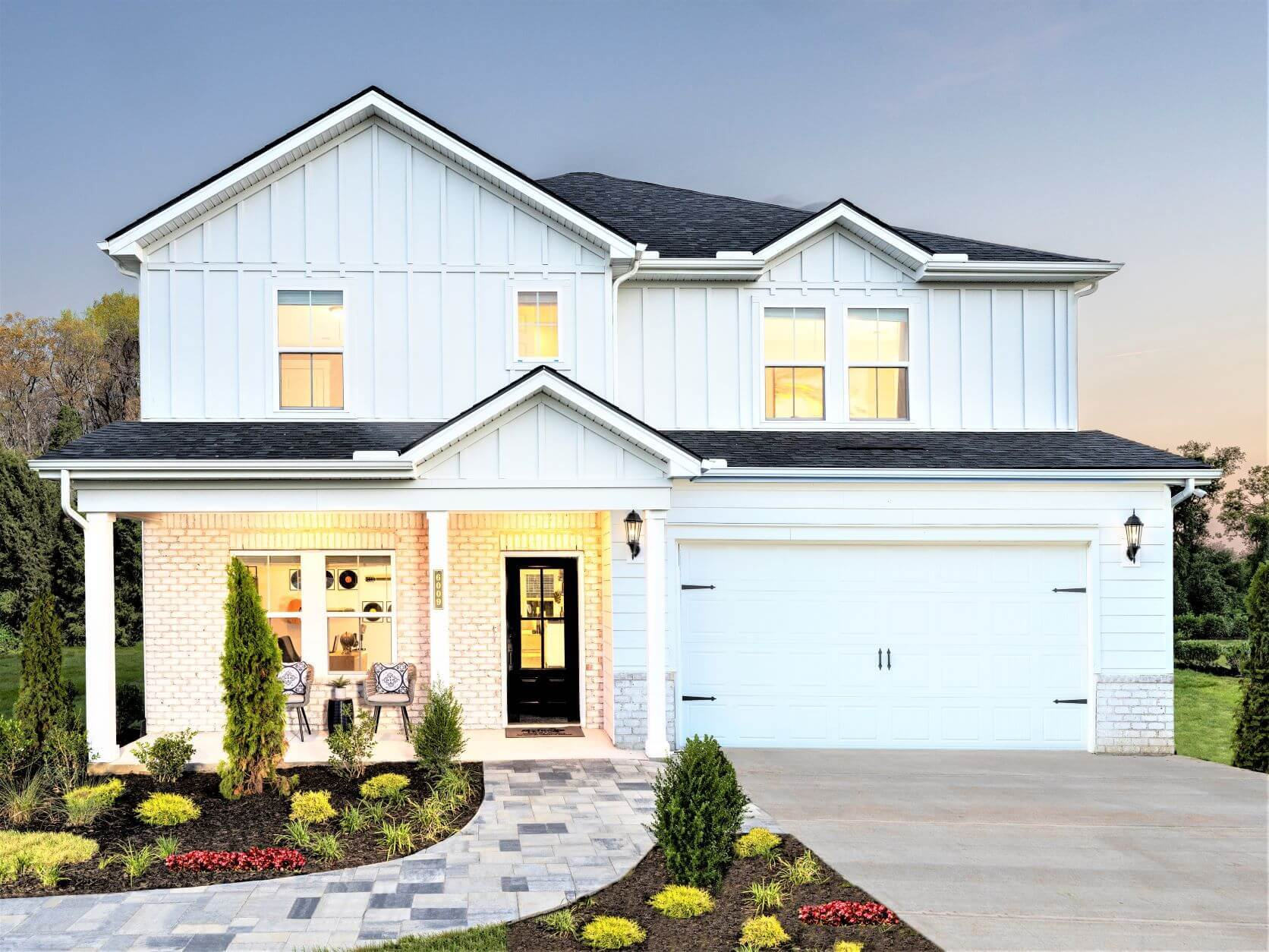 The Sherwood is a stunning 2-story floorplan featuring 4 bedrooms.