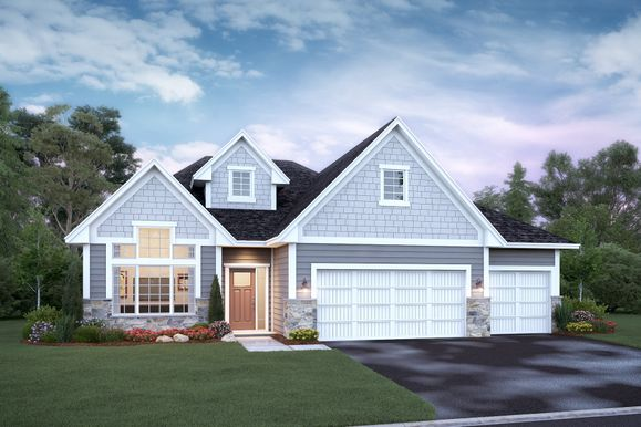 Willow 3-Car Elevation C - Stone