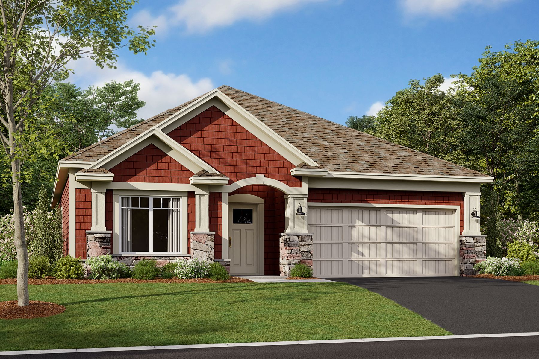 Cedarwood II Elevation D - Stone