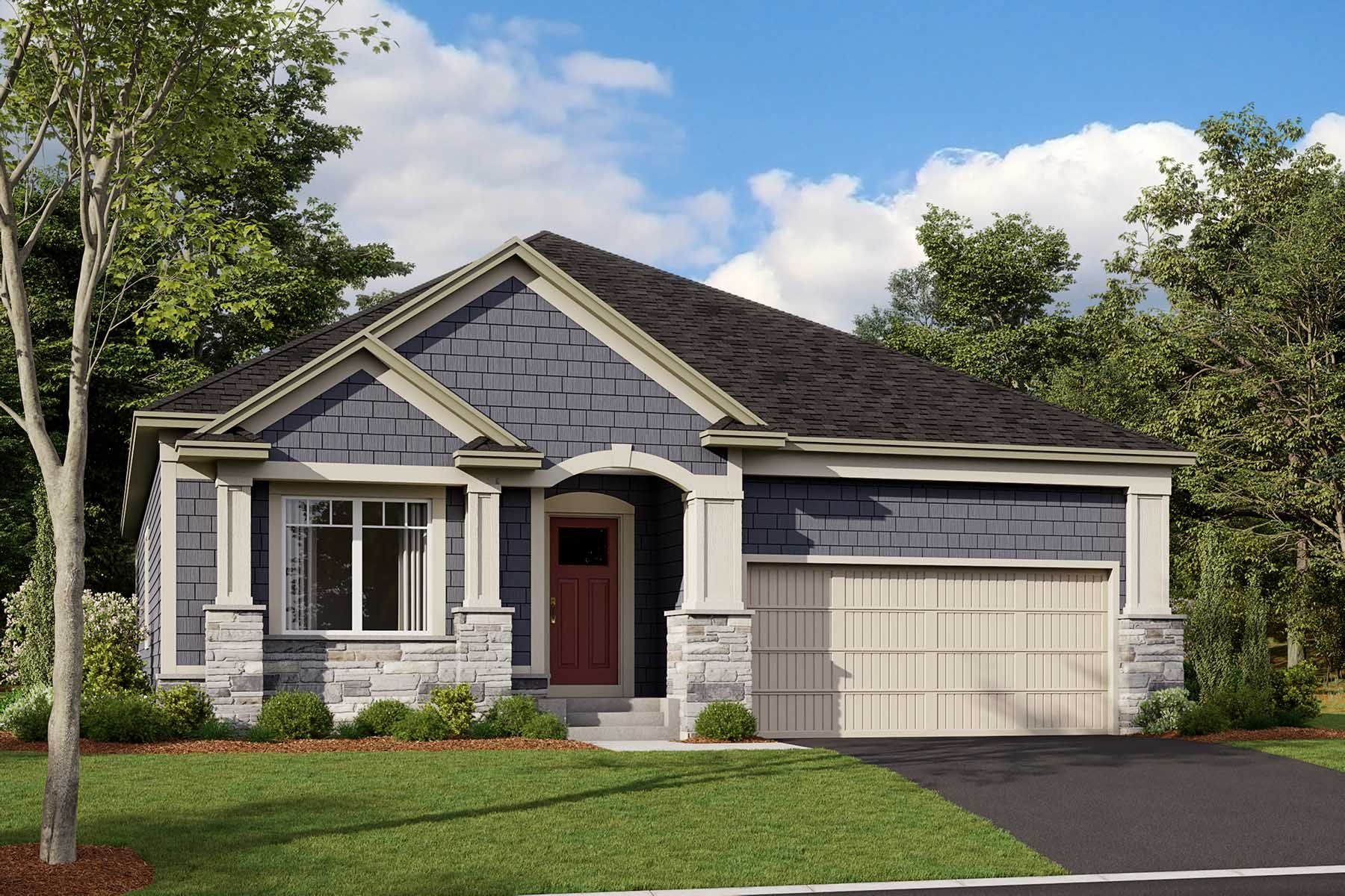 Hillcrest Elevation D - Stone