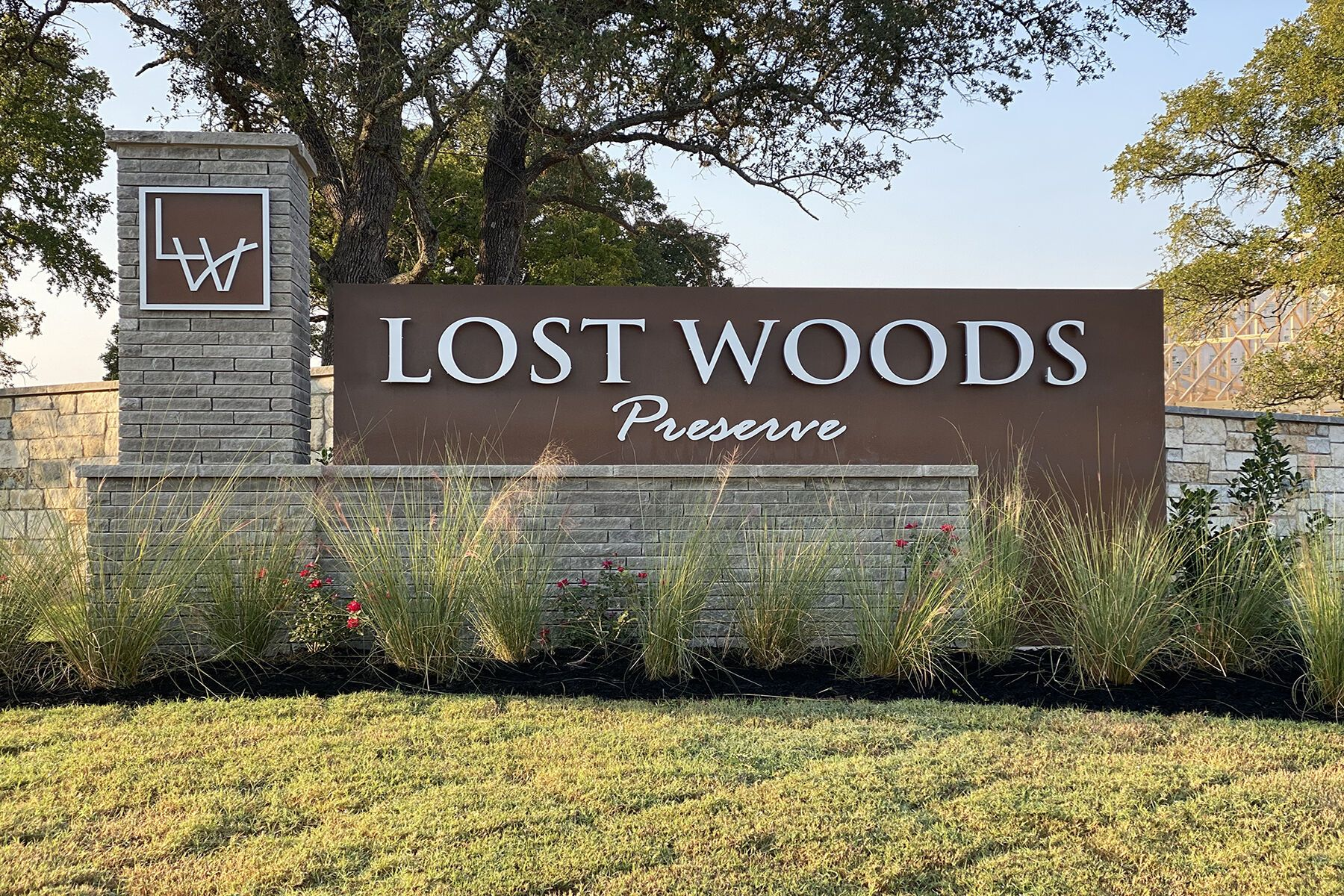 Lost Woods Preserve Entrance