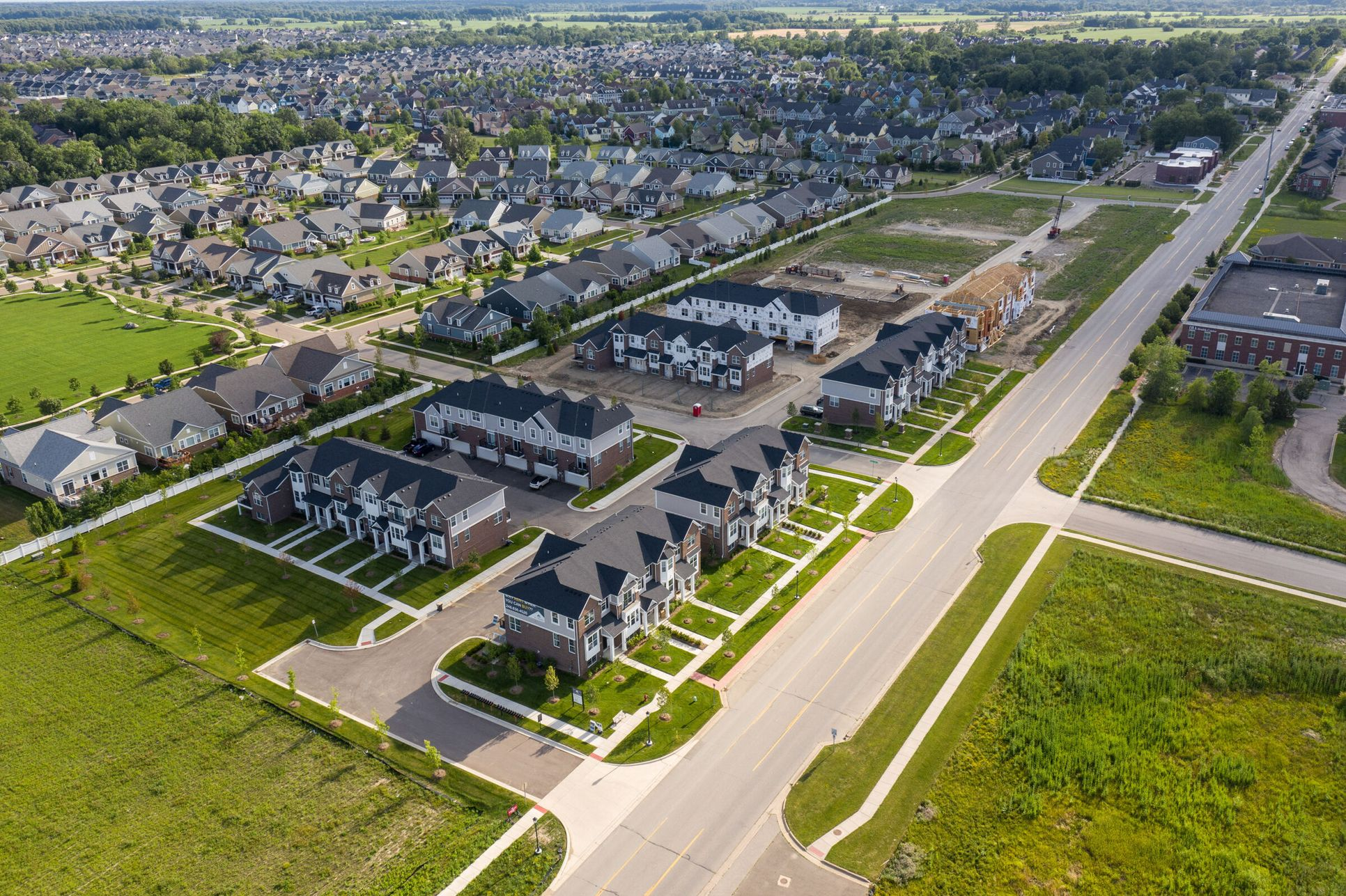 The Towns at Cherry Hill Aerial