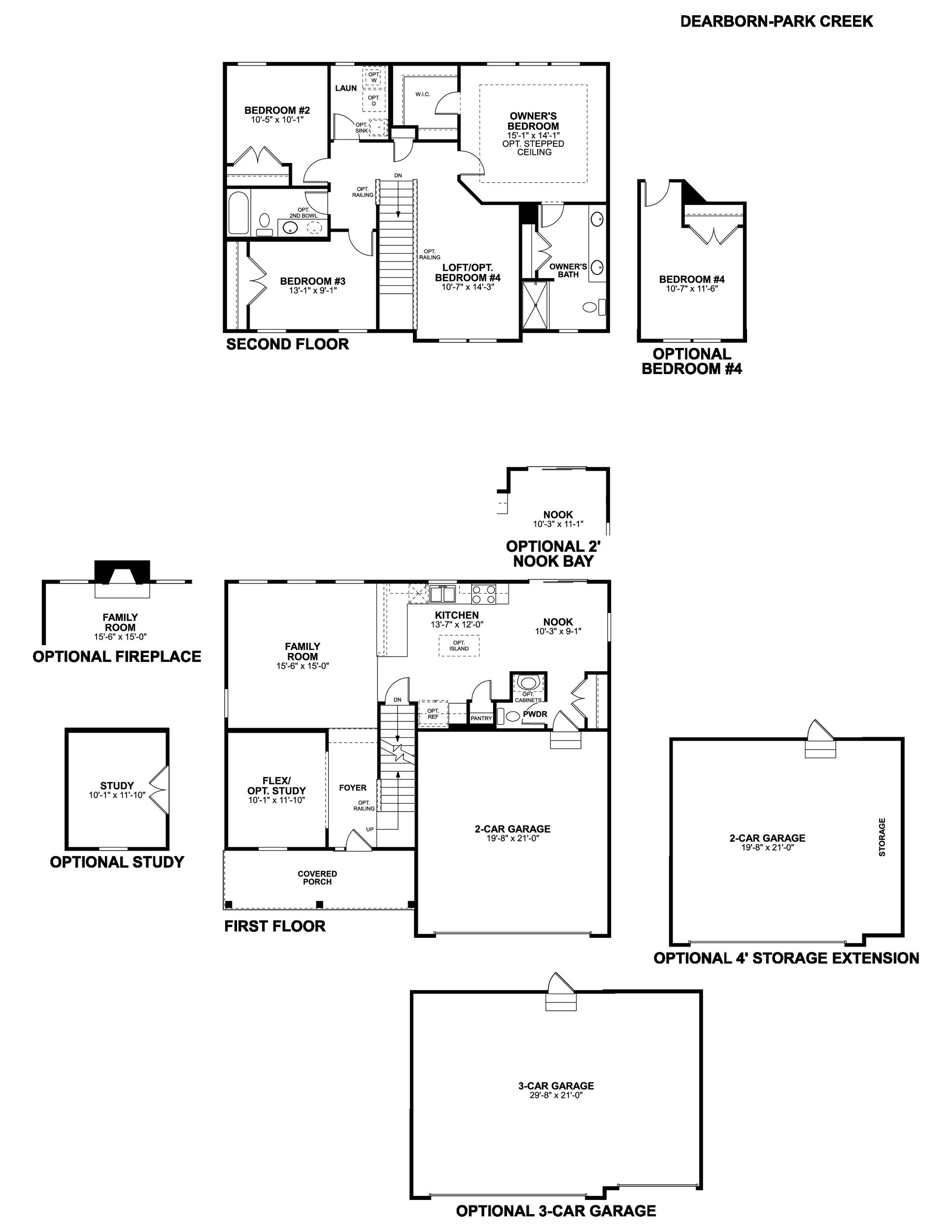 Park Creek Dearborn Floorplan