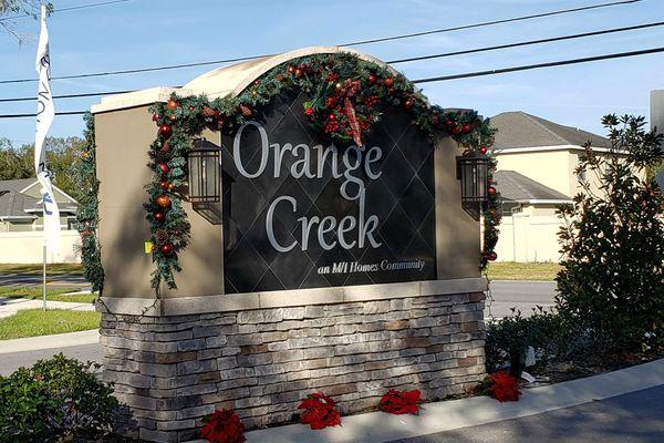 Orange Creek Entrance
