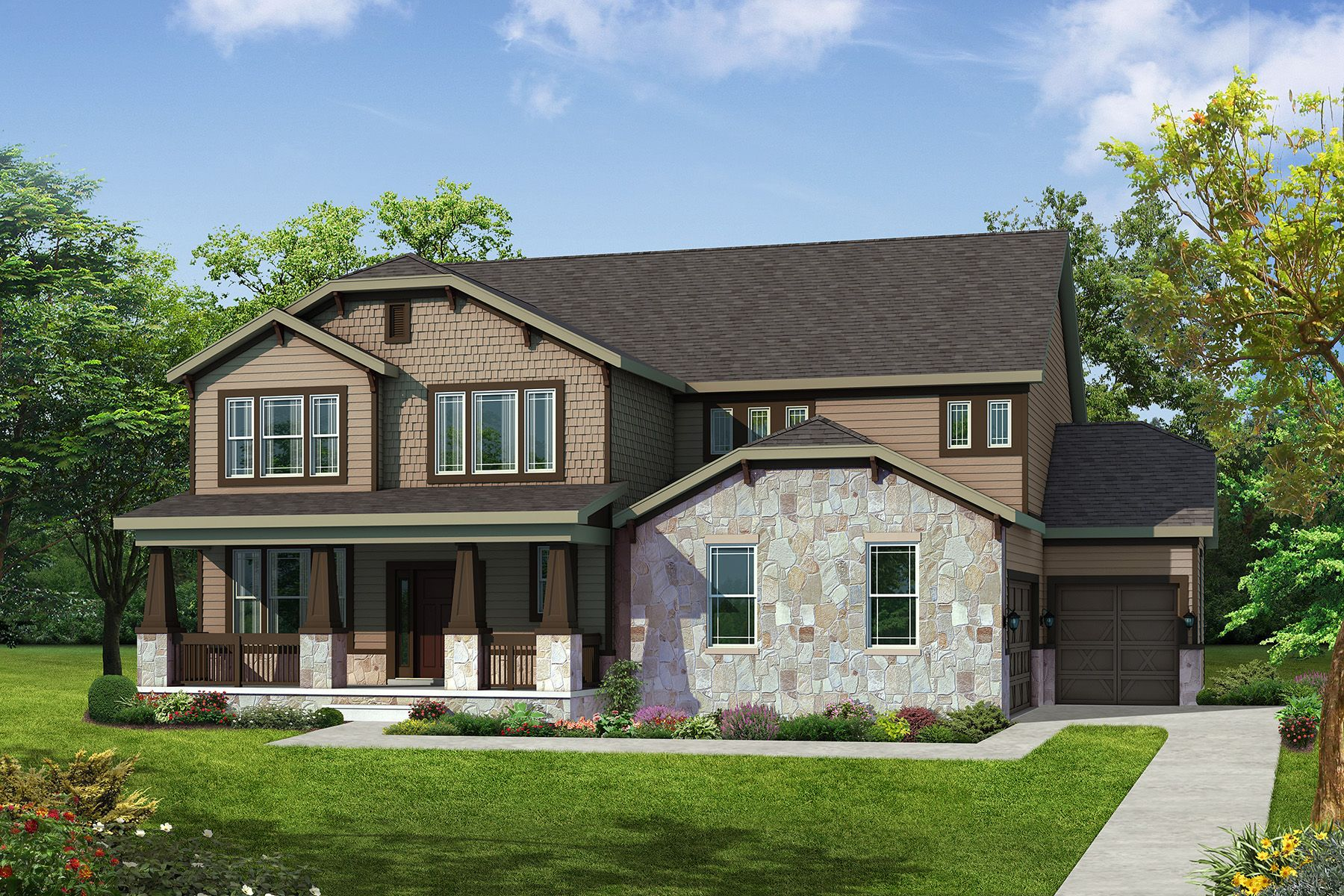 Stockton - Craftsman Elevation