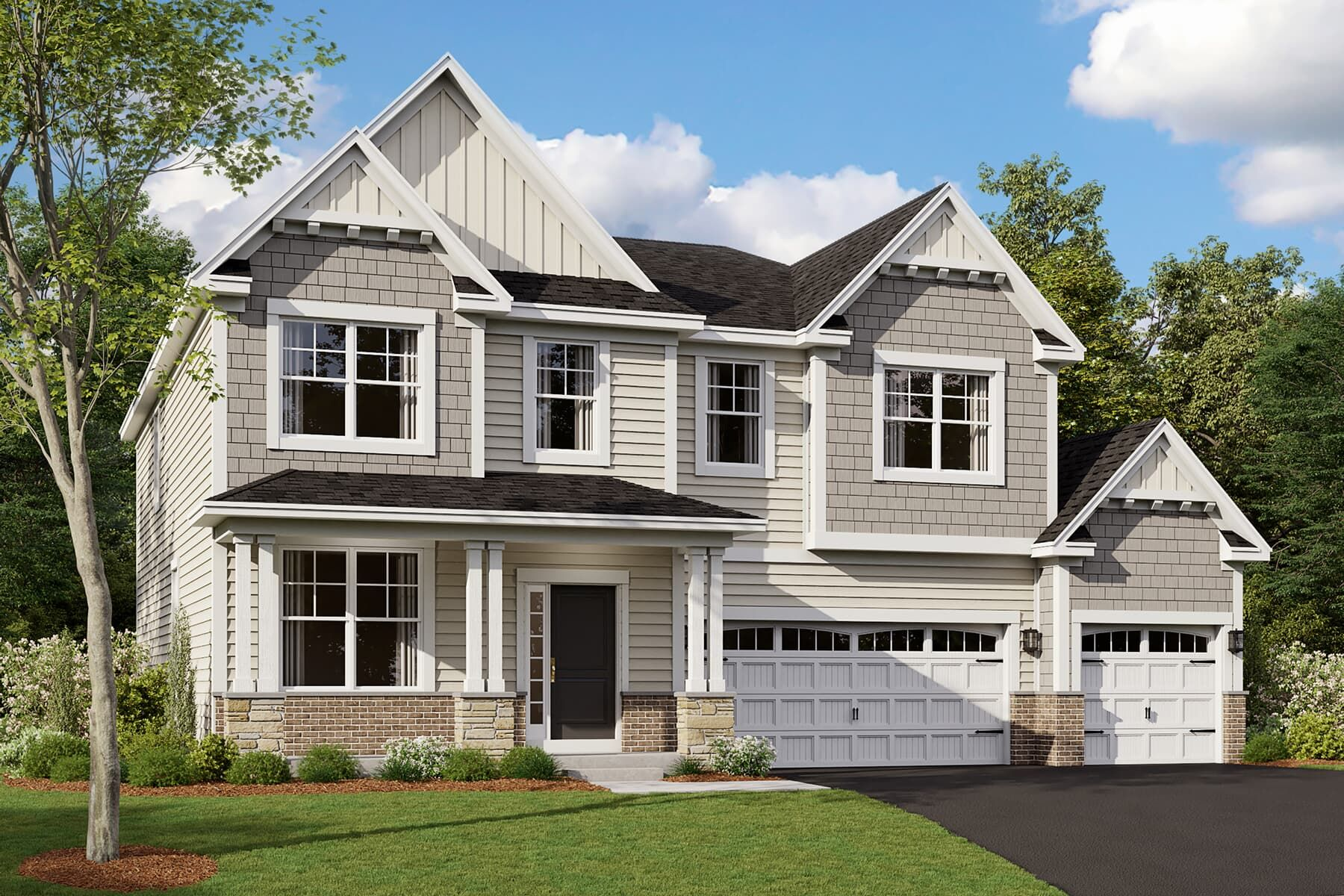 Gresham 3-Car Elevation Artisan