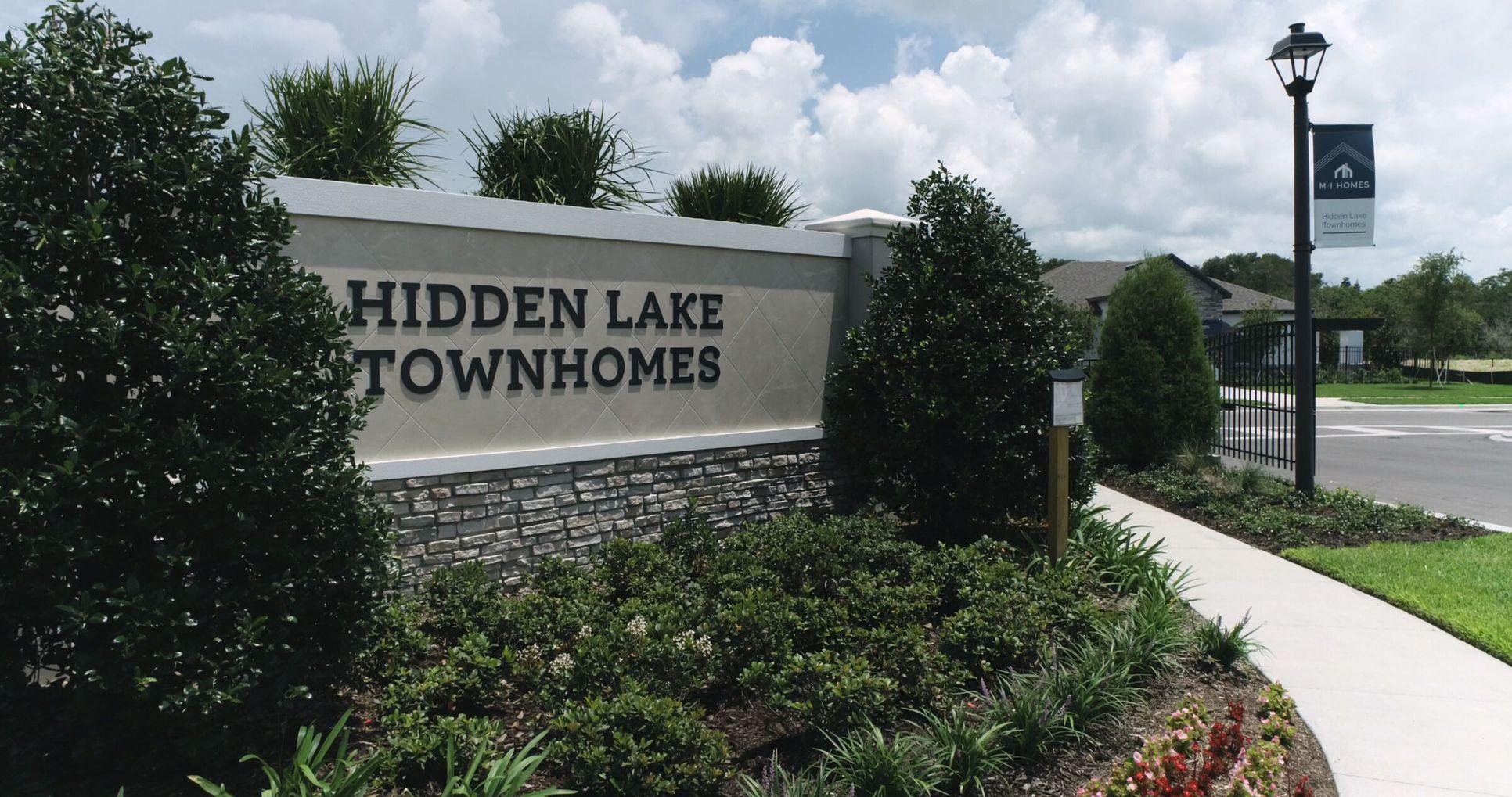 Hidden Lake Townhomes Entrance