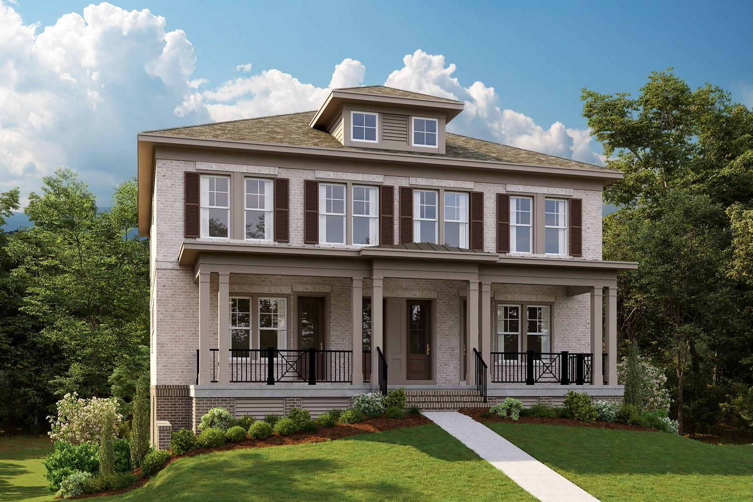 Towns at Kendrick:Luxury Townhomes Steps to Town Brookhaven