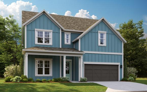 The Abbott, Elevation A available on Homesite #16:Luxurious New Homes with 4 Bedrooms and 2.5 Bathrooms