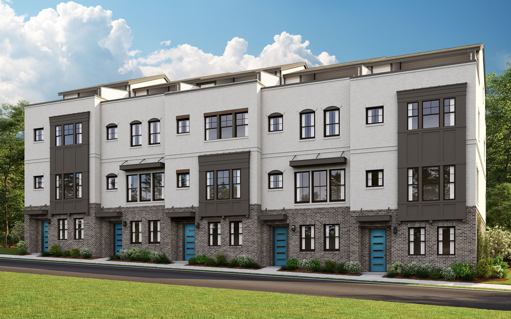 Hayden Exterior:Luxury Atlanta  Townhomes with a Premier West Midtown Address