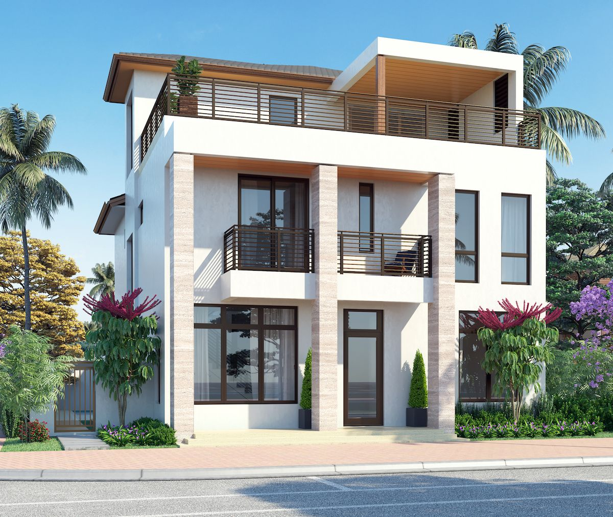 Contemporary - Three Story