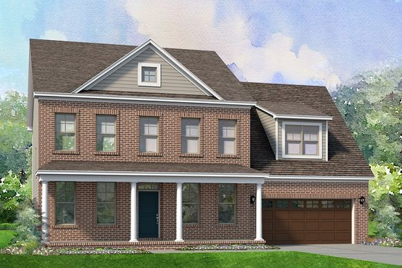 The Hillcrest Elevation A :Master Down Floor Plan