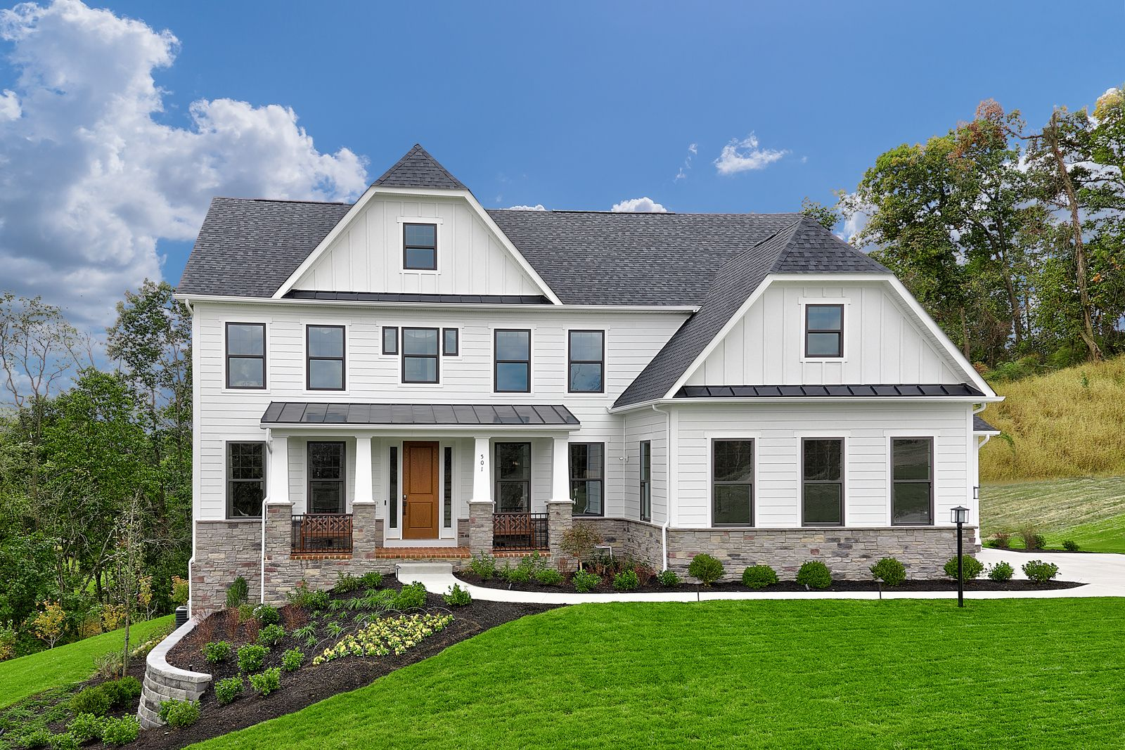 WELCOME HOME TO THE VILLAS OF ENGLISH FARMS:The space, style & luxury you expect and deserve. Homes are appointed w/ stately exteriors, 3-car garages, finished basements w/ full baths, fireplaces & more!Click here to schedule an appointment.