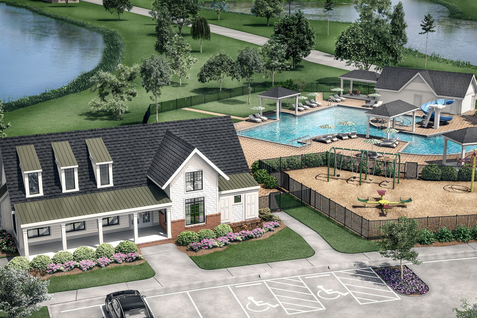 2.2 MILLION DOLLAR AMENITIES ON OUR LAKES:Enjoy lakes, piers, clubhouse, playgounds, pool w/ splash pad, and much more—our HOA fee is only $82/month!Schedule your visit today to tour on our golf cart.