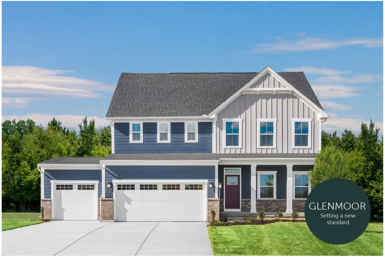 Setting a new standard in Glenmoor:Charming new homes w/ true curb appeal, ½ acre yards&3-car garages. Just 5 mi to Chesapeake but ½ the taxes. Value & beauty at every turn, from the $320s.Join the VIPs for virtual event invite!
