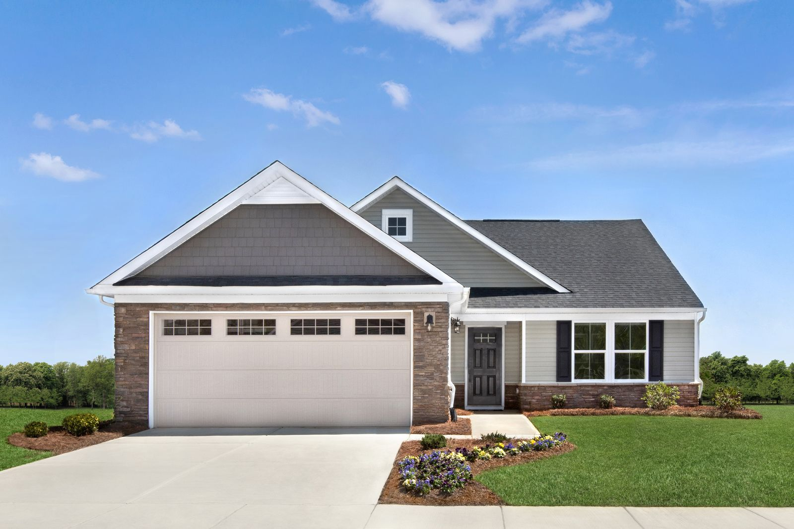 Mauldin's only all ranch community with lawn care included. From the $200s-$250s.:Live a low-maintenance lifestyle at Woodland Pointe—Join the VIP List for the first chance to own at the lowest price available!