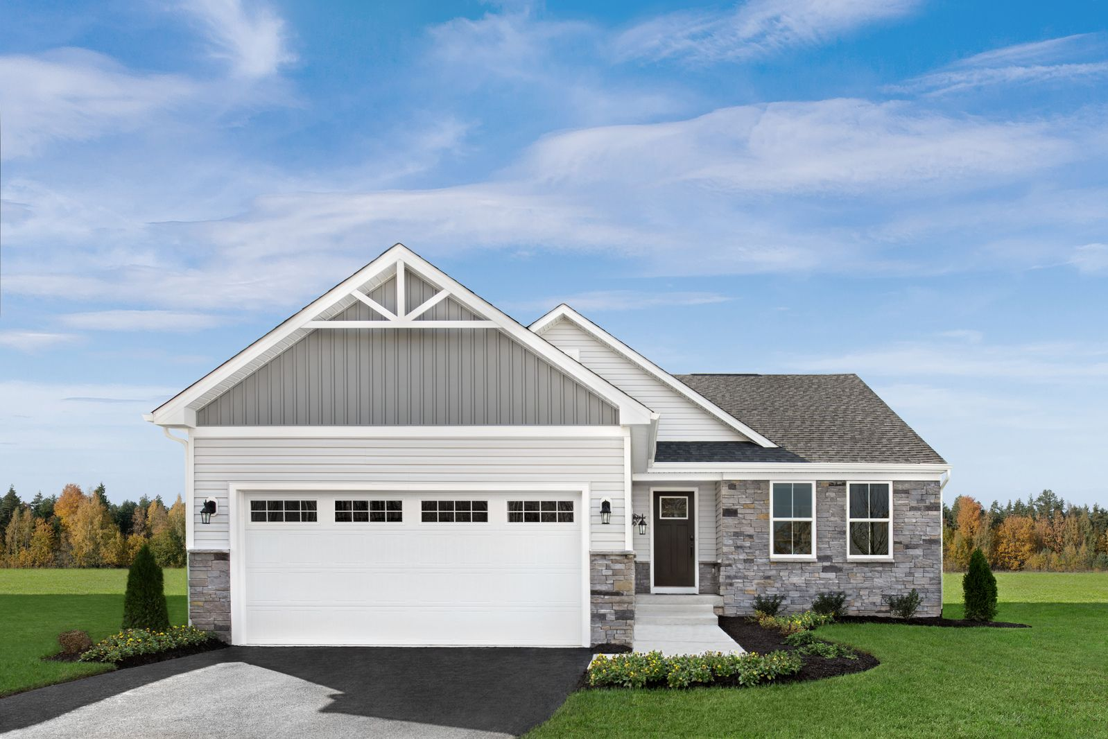 Fields at Oakwood - Now Open!:Maintenance-free, 1-story homes you can personalize the way you want minutes from everyday conveniences.Click here to tour our 4 models here at the community & take advantage of VIP benefits!