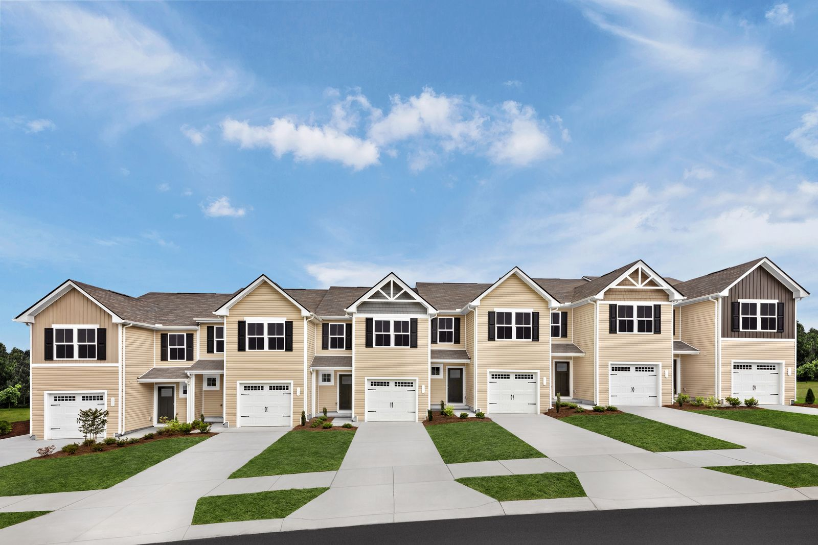 CEDAR RIDGE AT WOODALL - NOW SCHEDULING APPOINTMENTS:Brand new, low-maintenance townhomes only 1 mile to I-40 with 1-car garages included – all from the mid $200s.Join the VIP list to schedule your appointment!