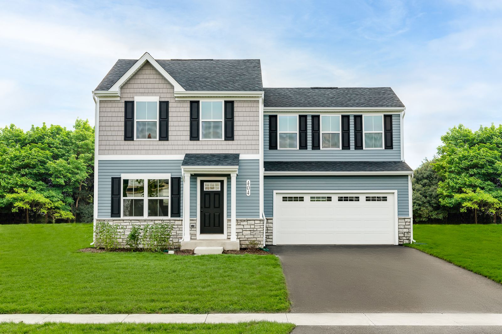 Welcome to Sunset Point - The best value 2-story homes in Joliet!:Choose from homes that offer 3-5 bedrooms, 2-car garage, large backyard, basement, with everything included! Only 3 miles from the Metra & minutes to plenty of commuter routes.Schedule a visit today!
