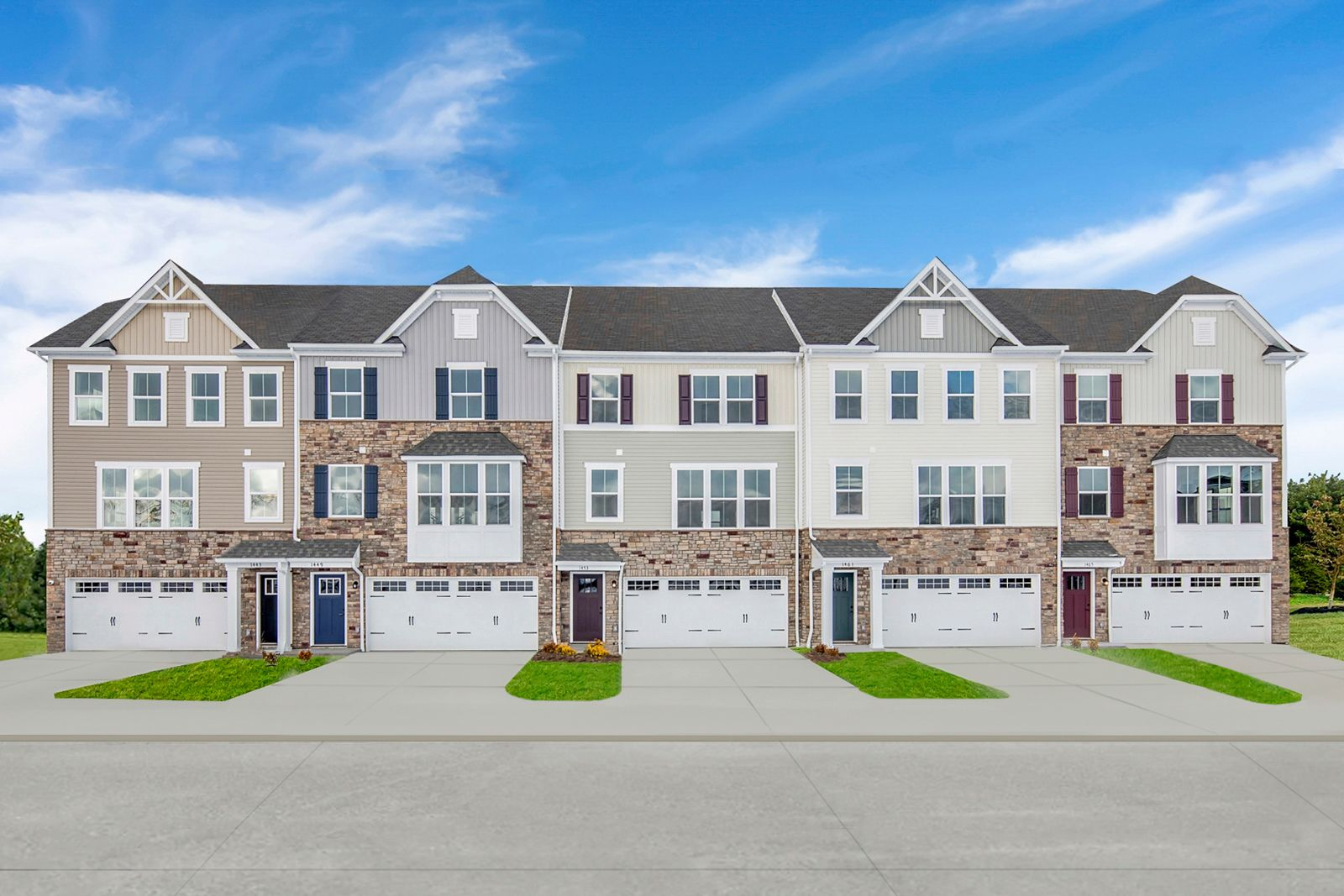 1 HOMESITE REMAINS AT HICKORY TOWNHOMES