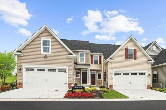 Welcome to The 55+ Villas at Greenbrier:Come tour our brand-new Calvert model, featuring main level living and a 2 car garage in Bel Air