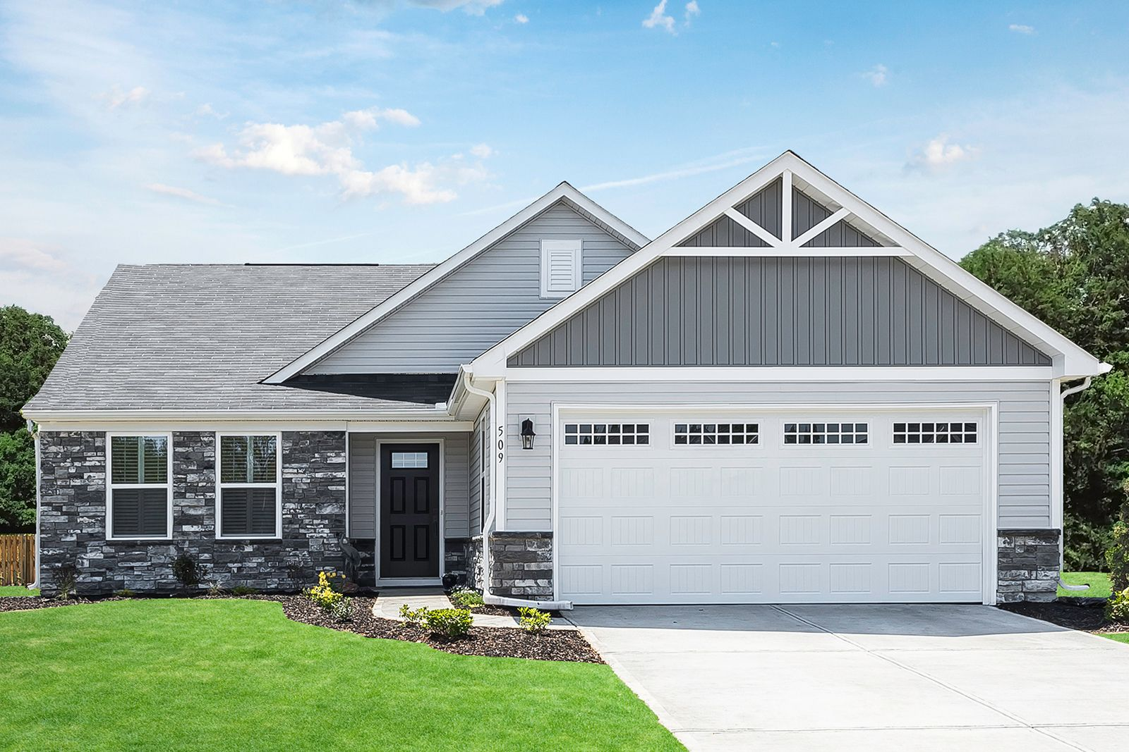 Welcome home to CARRIAGE TRAILS RANCHES!:Lowest-price new construction ranches in Tipp City near I-70 & WPAFB. Lawn care included! Tree-lined homesites with walking paths. Low taxes—from the $220s.Click tolearn more about the community.