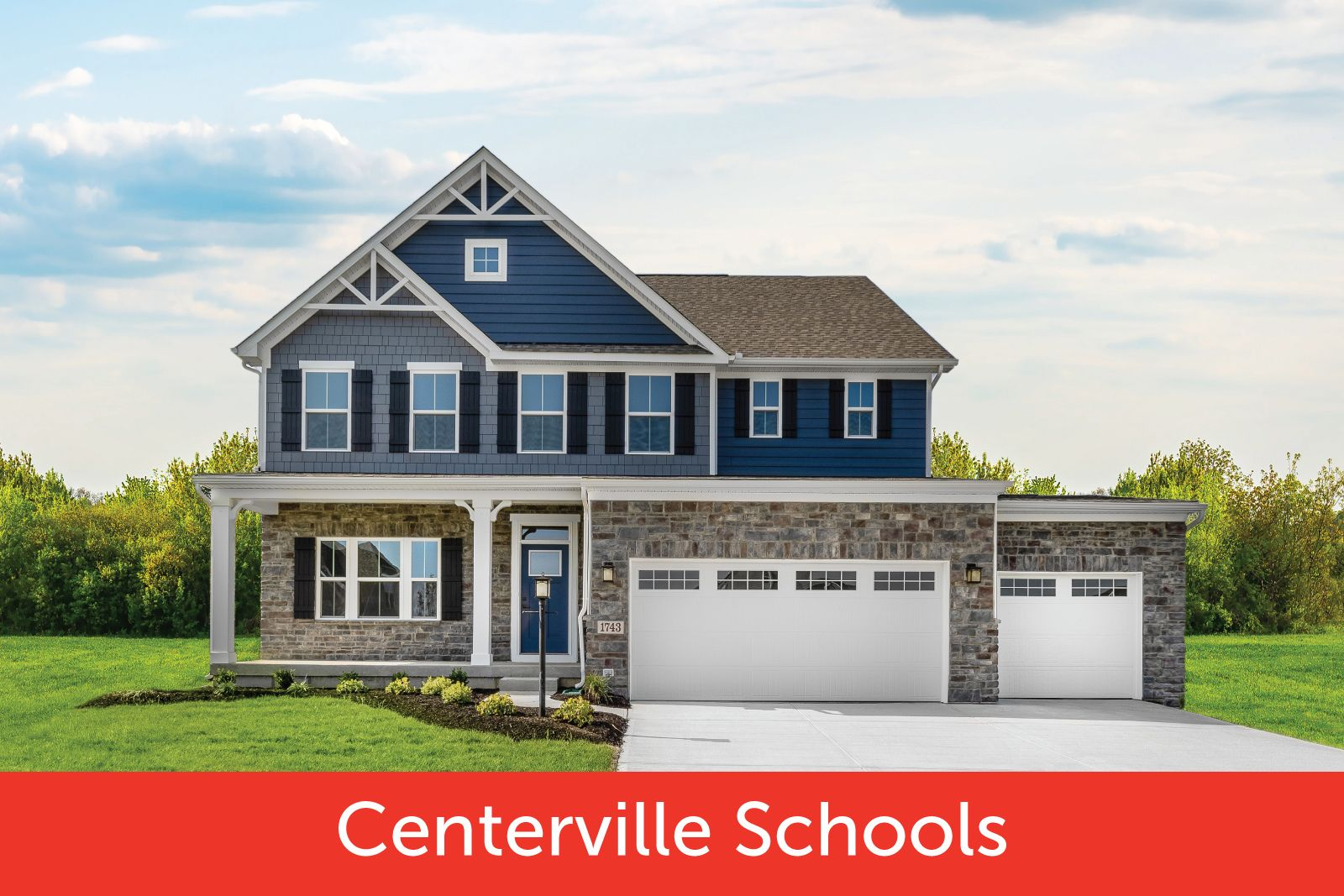 Welcome Home to Creekside at Winding Creek:Wooded homesites up to 1/2 acre or larger in Centerville School District. 3-car garages, included finished basements & community pool. From mid $300s!Click here to schedule your visit!