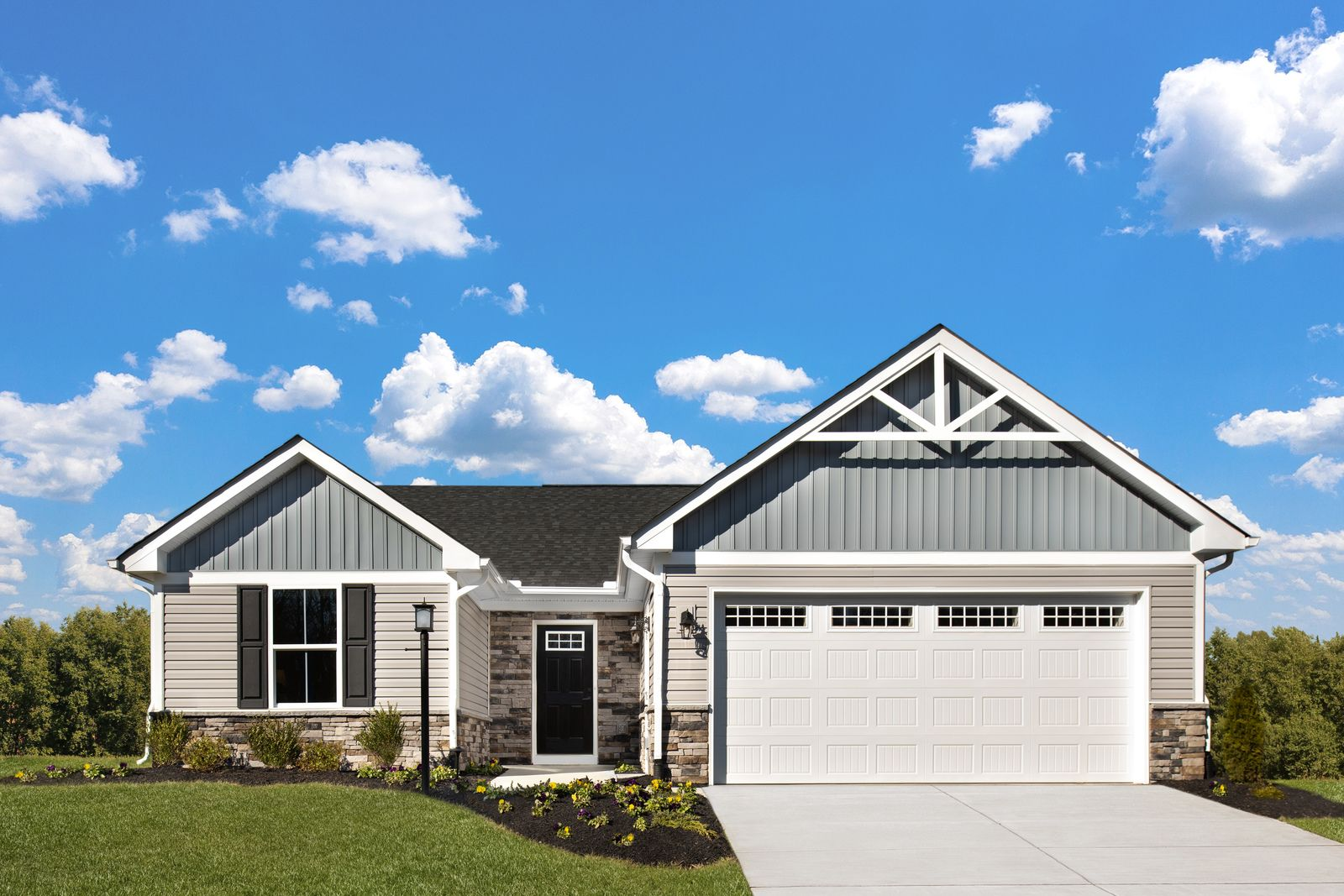 Welcome to Tartan Meadows - Easy Living Ranch Homes in Milford:Own a brand new home in a serene, peaceful community from the lower $200s. Enjoy included lawn care & snow removal, and easy access to I-275.Click here to schedule your visit to Tartan Meadows!