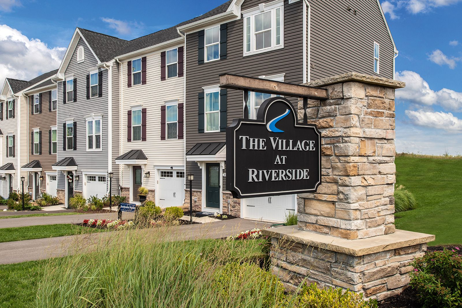 Welcome to The Village at Riverside:Ryan Homes' Lowest Priced Townhome Community! From the upper $100s. Click here to schedule an appointment.