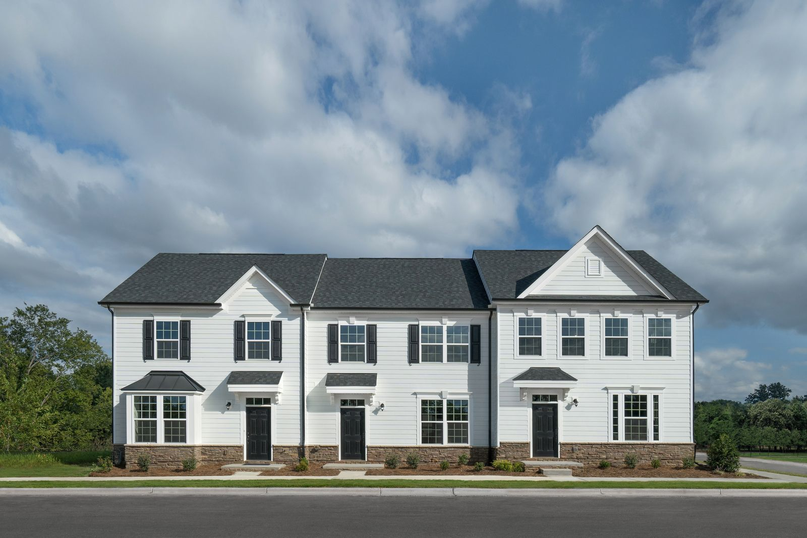 Why rent? Own a new 3 bedroom townhome with a fenced-in yard and 2 car garage:Last chance!Schedule a visitto see these townhomes in person andlearn more about your financing options that include 0% down!