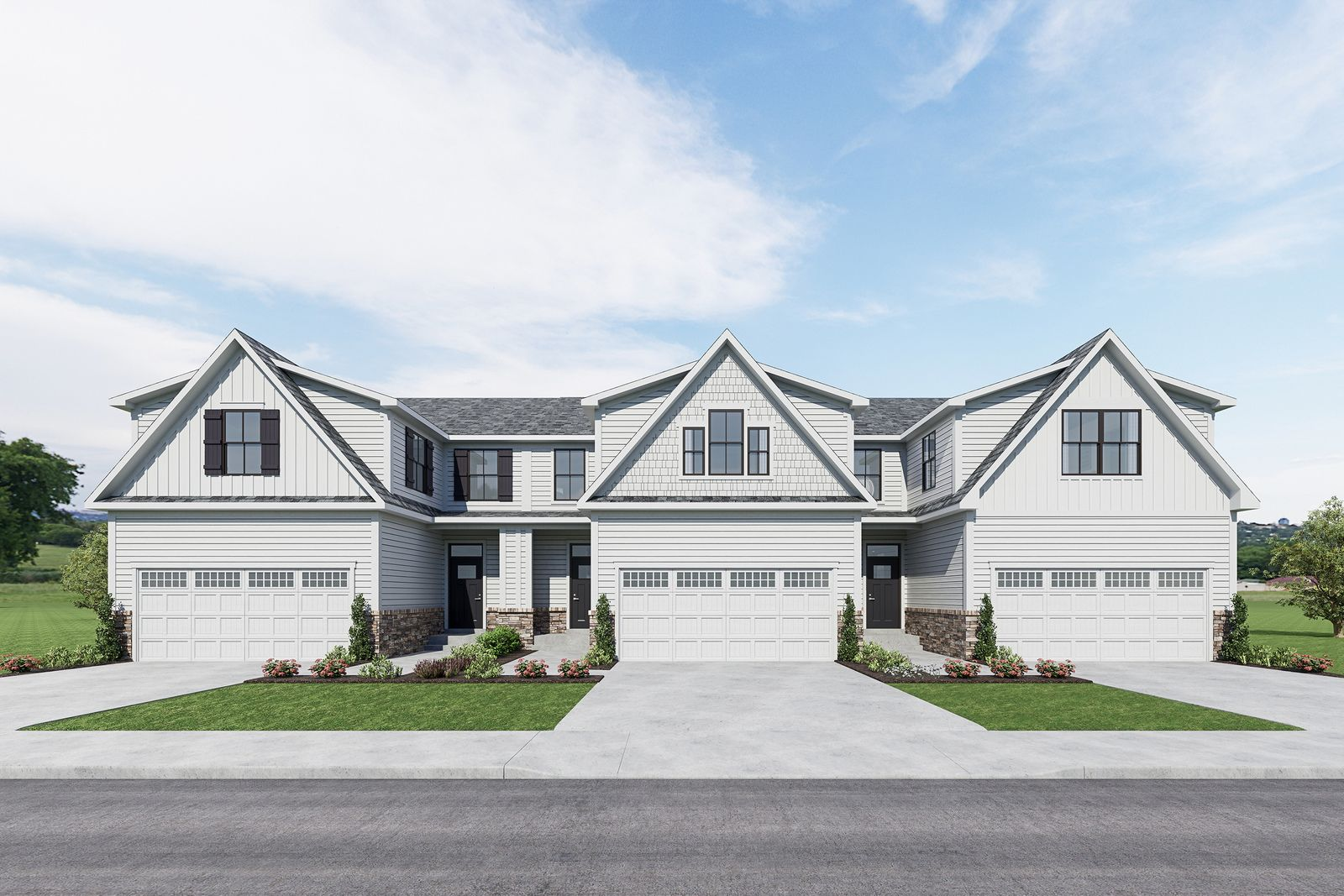 SMALL ENCLAVE OF 48 MODERN TOWNHOMES FROM MID $300's:Own a new modern farmhouse style townhome with 1st-floor owner suite and homesites that back to trees or open space—Join the VIP List for exclusive info & best pricing!